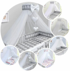 Baby Drape Canopy Mosquito Net with Ribbon ONLY Fits Cot Cot bed