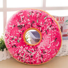 Soft Plush Pillow Stuffed Seat Pad Sweet Donut Foods Cushion Cover Case Toys E