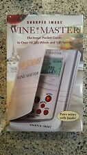 Wine Master Electronic Pocket Guide To Over 10,500 Wines by Sharper Image