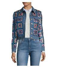 Manoush Sequined Denim Jacket US 8 MSRP $805!!