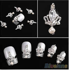 10pcs DIY 3D Nail Art Tips Crown Stone Alloy Rhinestone Nail Art Supplies Fine