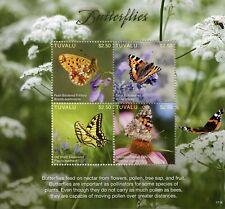 Tuvalu 2017 MNH Butterflies Swallowtail Fritillary 4v M/S Butterflies Stamps