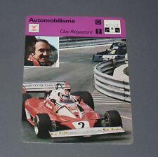 FICHE AUTOMOBILE AUTO CLAY REGAZZONI MONACO 1976 FORMULE 1 GRAND PRIX PILOTE