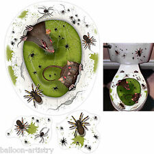 Halloween Terror Rats Spiders INFESTATION Toilet Topper Decoration