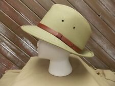 Vintage Fedora Hat Cotton /Polyester Tan Cap Men's Size M