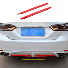 For toyota Camry 2018-2019 2pc RED steel Rear Bumper Plate Decorator Pad Cover