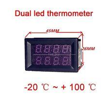 Dual led display digital thermometer aquarium water Temperatur 12V 24V car