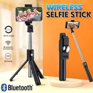 360° Selfie Stick Tripod Remote Desktop Stand Holder For iPhone 13 12 11 Pro Max