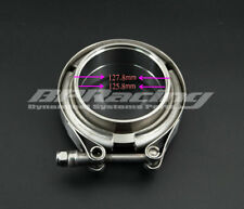 5'' Inch V Band Clamp Turbo Exhaust Downpipe Stainless Steel 304 With 2Flange