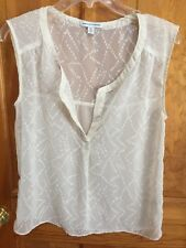 American Eagle Outfitters Sheer Beige Sleeveless Top Size S/P
