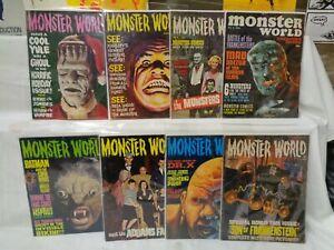 Monster World 1-10 (miss.#3+4) SET Nice! 1964-1966 Warren Magazine (s 12342)