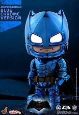 Hot Toys Cosbaby Blue Armored Batman Dawn of Justice with LED light up eye
