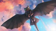 """023 How to Train Your Dragon 3 - The Hidden World Hiccup Movie 42""""x24"""" Poster"""