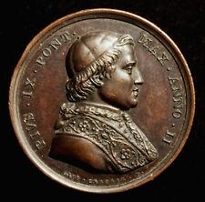 Vaticano, Pio IX, medaglia bronzo 1847, CERBARA/GIROMETTI, Gesù U. San Pietro, RR!