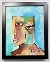 "PAINTING ORIGINAL ACRYLIC ON CANVAS PANEL(FRAME INCLUDED)CUBAN ART 8x10""by LISA."