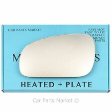 Left Passenger side Flat Wing mirror glass for Volvo v70 2000-2003 heated +plate
