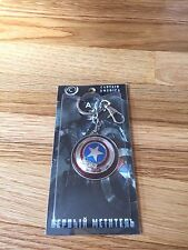 New Marvel The Avengers Captain America Shield Metal Spin Keyring Keychain USA