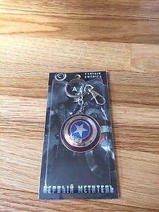 New Marvel The Avengers Captain America Shield Metal Spin Keyring Keychain USA