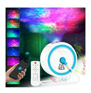 Starry Night Galaxy Projector LED nebula cloud Build in speaker 360 rotation UK
