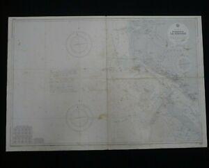 Vintage Navigation Chart 2910 Admiralty - Entrance to La Gironde