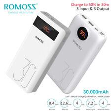 Romoss 30000mAh Power Bank 2-Way Type-C 18W carica batterie rapide Externe 3 USB