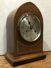 German Junghans Beehive Inlaid Mantel Table Clock