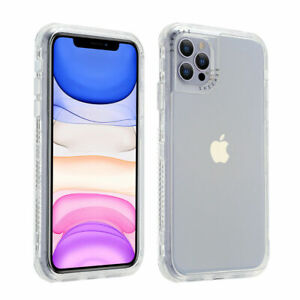 For iPhone 13 12 Pro Max 11 XS XR 8 7 Plus Shockproof Defender Clear Hybrid Case