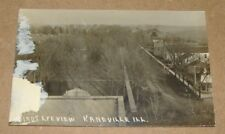 c1910 Birds Eye View Kaneville Illinois RPPC IL - Town View