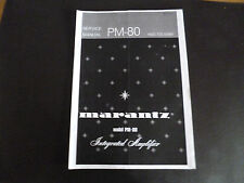 Service Manual Marantz pm 80