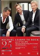 """MICHAEL LEARNS TO ROCK """"25 LIVE"""" 2015 SINGAPORE CONCERT TOUR POSTER - Soft Rock"""