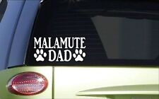 Malamute Dad *H835* 8 inch Sticker decal sled dog sled race husky harness
