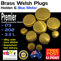 New Brass Welch Welsh Freeze Core Plug Set Kit Fits Holden 6 Blue Motor 80-86