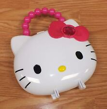 "Sanrio Hello Kitty Pink & White 7"" Tall Plastic Lip Gloss Carrying Case *Read*"