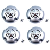 Set of 4 MSA Off-Road ATV UTV Center Caps Silver for M12-M38 MSA Style Wheels
