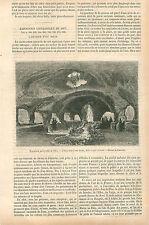 Exposition Universelle Paris Aquarium d'eau douce du Parc GRAVURE OLD PRINT 1867
