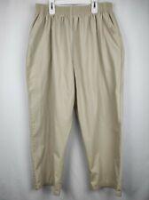 New listing Landau Scrub Pants Size 2Xl Petite Beige Woman Pant Elastic Waistband Pockets