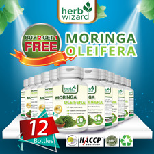12 x Moringa Oleifera Extract 10,000mg Capsules Strong Natural Vitamin 100% Pure