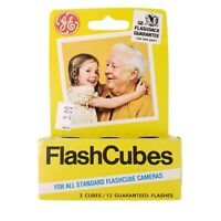 Vintage GE Flash Cubes For All Standard Flashcube Cameras 3 Cubes New Old Stock