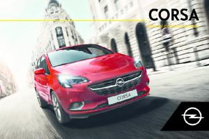 Opel Corsa Manual de Instrucciones 2014, 2015, 2016, 2017, 2018, 2019 Español