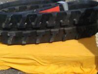 1 Paar Gummiketten Baggerketten 230x43x72 für Yanmar B10 12 13 15 17 YB14 YB121