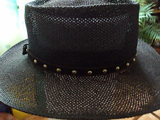 "Hatband black velveteen silver studs and buckle 27"" long DAD5100"