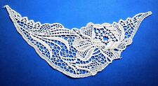 "BEAUTIFUL VENISE LACE APPLIQUE 5pc RAYON YOKE 8""  IVORY  SATIN CRAFT TRIM  #1896"