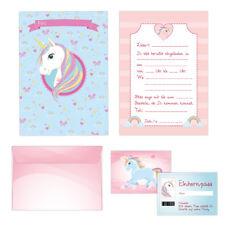 Einhorn - Unicorn - Einladungskarten Set Kindergeburtstag - 24-teilig