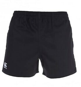 CANTERBURY MEN'S PROFESSIONAL COTTON RUGBY SHORTS BLACK 4XL NEW RRP £17