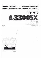 TEAC manuale di istruzioni user manual Owners Manual per a - 3300 SX