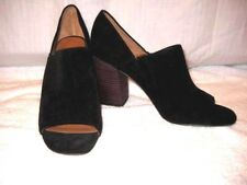 Franco sarto womens shoes size 10 black suede open toe mule block heel