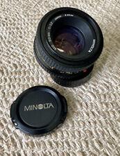 Minolta MD 50mm f/1.7 MF Lens For Minolta, 49mm Filter Size Made In Japan EXC!