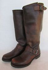 FRYE Veronica Slouch Boots Brown Riding Buckle 77606 Size 6/ 6.5 EUC