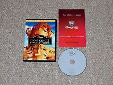 The Lion King II: Simba's Pride Special Edition DVD 2012