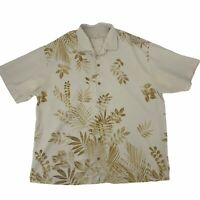 Tommy Bahama Silk Button Up Shirt Men's Size 2XL Floral Short Sleeve Hawaiian